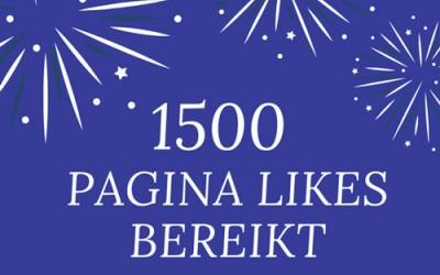 100 Winnaars 1500 pagina likes op facebook actie