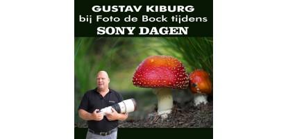 Gustav Kiburg bij Foto de Bock tijdens Sony dagen 22 t/m 25 oktober