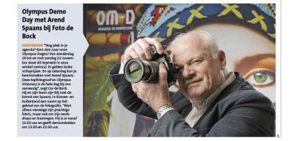 Olympus Demo Day met Arend Spaans –Kortingsfestival bij Foto de Bock