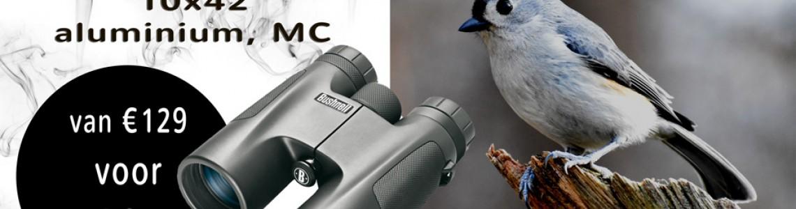 Vogelspotten met de Bushnell Powerview 2.0 10x42 aluminum, MC