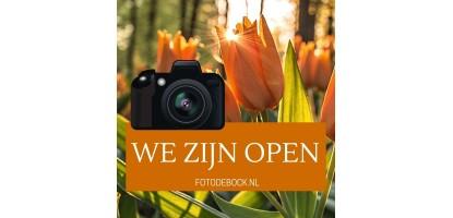 We zijn open