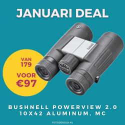 Bushnell Powerview 2.0 10x42 aluminum, MC - januari deal