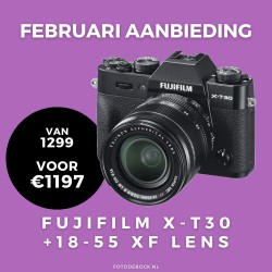 Fujifilm X-T30 XF18-55mm - februari aanbieding (Na cashbak €1097)