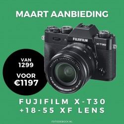 Fujifilm X-T30 XF18-55mm - maart aanbieding (Na cashbak €1097)