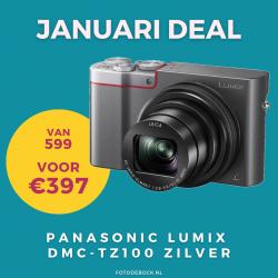 Panasonic Lumix DMC-TZ100 zilver - januari deal