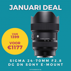 Sigma 24-70mm F2.8 DG DN Sony E-mount - januari deal