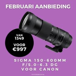 Sigma 150-600mm F5.0-6.3 DG OS HSM voor Canon - februari aanbieding