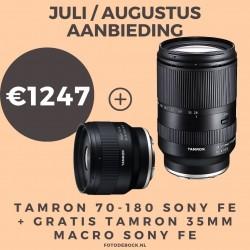 Tamron 70-180mm F/2.8 Di III VXD Sony FE + GRATIS Tamron 35mm F/2.8 DI III OSD 1/2 Macro Sony FE - AANBIEDING