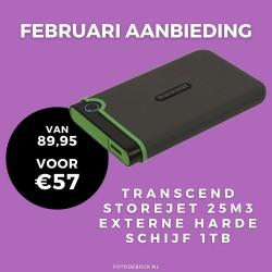 Transcend 1TB harddisk 25M3 - februari aanbieding