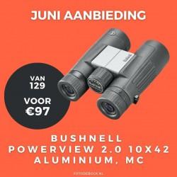 Bushnell Powerview 2.0 10x42 aluminium, MC - aanbieding