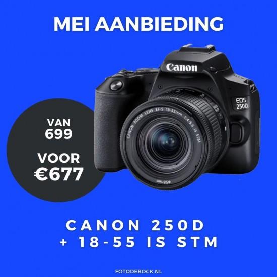 Canon EOS 250D BK + 18-55 IS STM CP - aanbieding