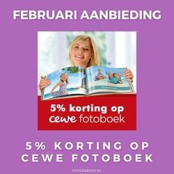 Cewe Fotoboek 5% korting - februari aanbieding