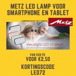 Metz mecalight LED-72 smart - aanbieding