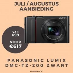 Panasonic Lumix DMC-TZ-200 zwart - aanbieding