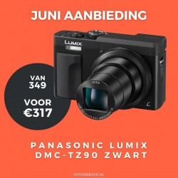 Panasonic Lumix DMC-TZ90 zwart - aanbieding