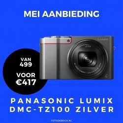 Panasonic Lumix DMC-TZ100 zilver - aanbieding