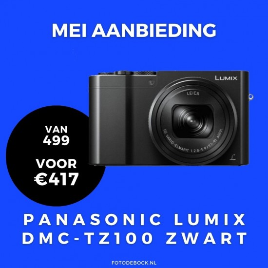 Panasonic Lumix DMC-TZ100 zwart - aanbieding
