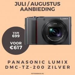 Panasonic Lumix DMC-TZ-200 zilver - aanbieding