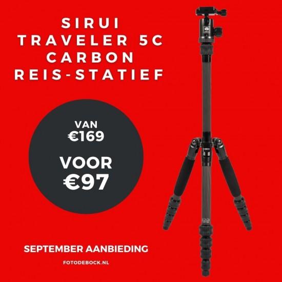 Sirui Traveler 5C carbon reis-statief - aanbieding