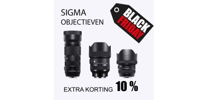 10% korting op alle Sigma objectieven