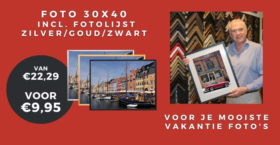 30x40 foto inclusief lijst aanbieding