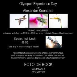 Olympus Experience Day met Alexander Koenders