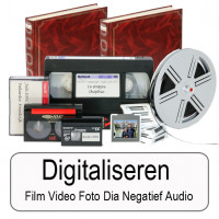 Digitaliseren van film video foto negatief audio