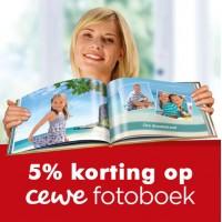 5% korting via Foto de Bock op CEWE fotoboeken