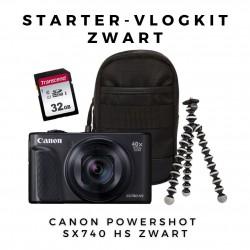 Canon Powershot SX740 HS Zwart - Starter Vlog Kit