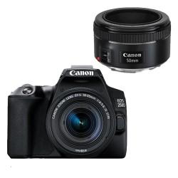 Canon EOS 250D Zwart + 18-55mm IS STM + 50mm F/1.8 STM