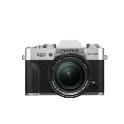Fujifilm X-T30 zilver + XF 18-55mm - zwart