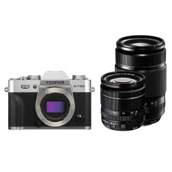 Fujifilm X-T30 systeemcamera Silver + XF 18-55mm + XF 55-200mm (Na cashbak €1589)