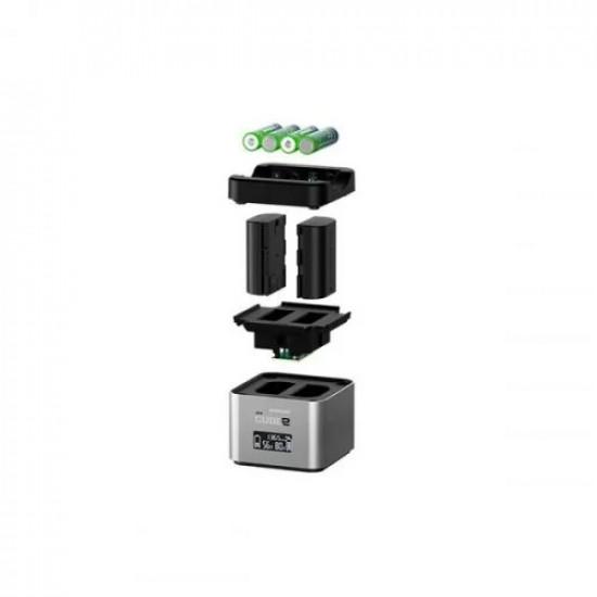 Hähnel Cube2 pro lader voor Nikon