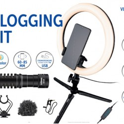 Vlogging Kit VL26  Dorr met camera microfoon