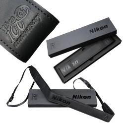 Nikon 100th Anniversary Premium Camera Strap Zwart