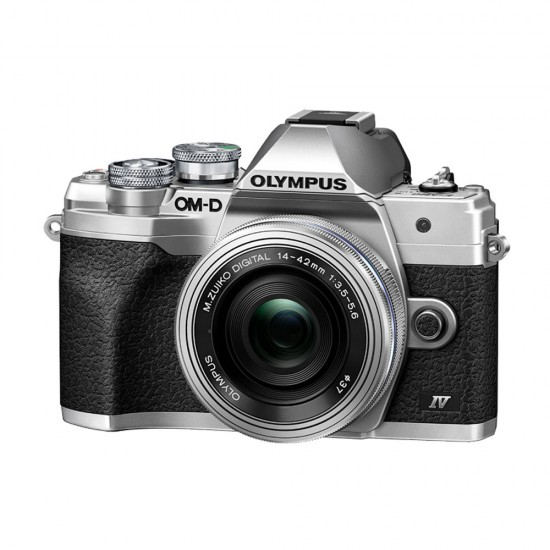 Olympus OM-D E-M10 mark  IV zilver + 14-42mm