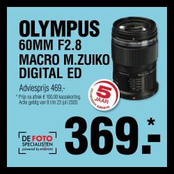 Olympus M. Zuiko  60mm F2.8 zwart