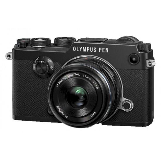 Olympus PEN-F zwart + 17 mm 1:1.8