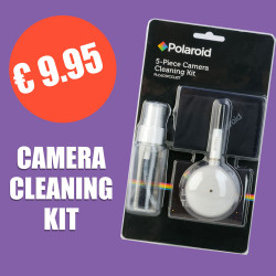 Polaroid camera cleaning kit