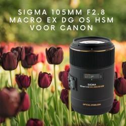 Sigma 105mm F2.8 Macro EX DG OS HSM voor Canon - aanbieding