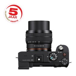 Sony A7C 28-60mm + GRATIS 2e accu t.w. €89,95 - maart aanbieding