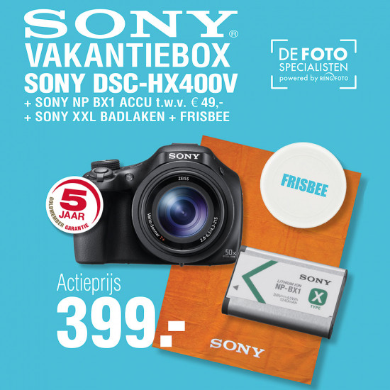 Sony DSC-HX400V zwart