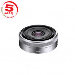 Sony SEL E-16 mm 2.8 zilver