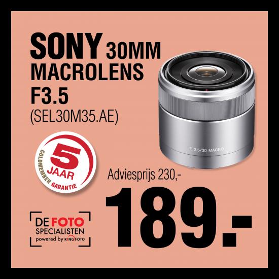 Sony SEL 30mm  F3.5 NEX