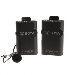 Boya 2.4 GHz Duo Lavalier Microfoon Draadloos BY-WM4 Pro-K1