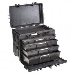Explorer Cases 5140 Trolley Zwart met Plukschuim Lades