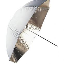 Falcon Eyes Flitsparaplu UR-48G Goud/Wit 122 cm