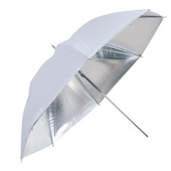 Falcon Eyes Flitsparaplu UR-48S Zilver/Wit 122 cm