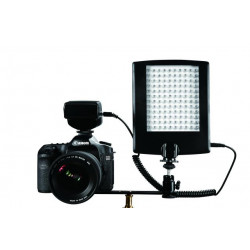 Falcon Eyes LED Lamp met Flitser DV-120FV op Batterij