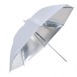 Linkstar Flitsparaplu PUK-102SW Zilver/Wit 120 cm (Omkeerbaar)